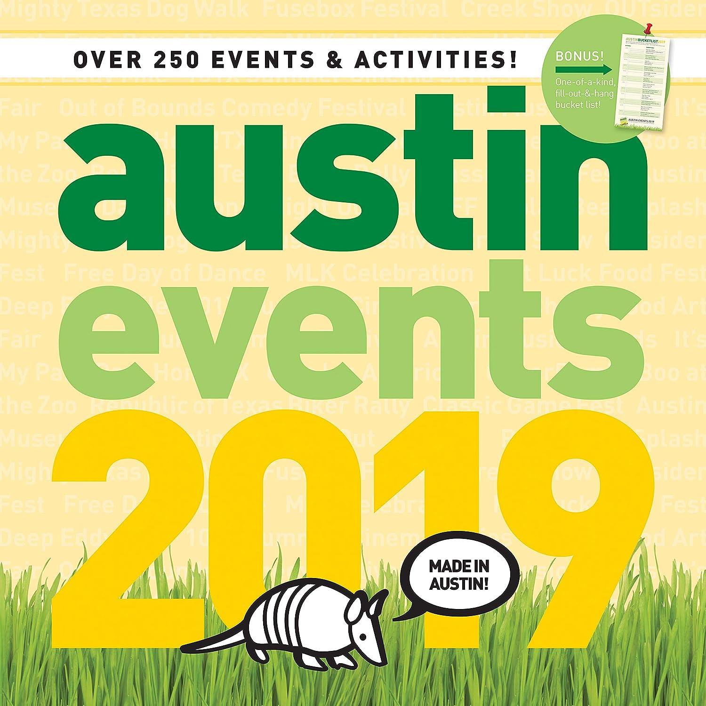Austin Event Calendar 2019 Amazon.: Austin Texas Events Wall Calendar 2019   Over 250