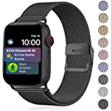 TIMDO Compatible with Apple Watch Band 38mm 40mm 41mm 42mm 44mm 45mm, Stainless Steel Strap with Magnetic Closure Compatible
