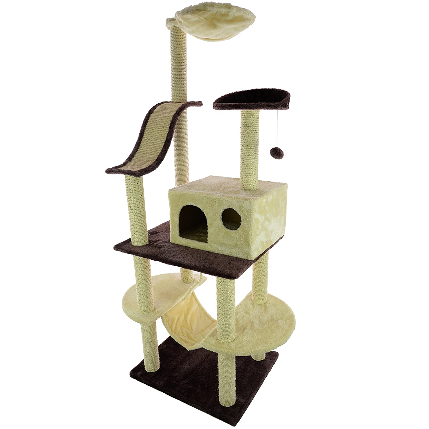 Tall Cat Tree With Hammock 176cm x 60cm