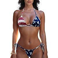 SHERRYLO Thong Bikini Swimsuit for Women Brazilian Bottom Triangle Bikinis Top Bathing Suit