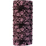 Autofy Skull  Lycra Unisex Headwrap (Black and Pink, Free Size) for bikes