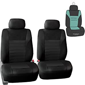 FH Group FB068102 Premium 3D Air Mesh Seat Covers (Black) Front Set with Gift - Universal Fit for Cars, Trucks & SUVs