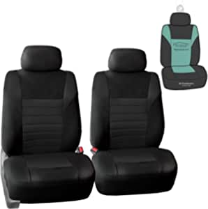 Fh Group Fb068102 Premium 3d Air Mesh Seat Covers Black Front Set With Gift Universal Fit For Cars Trucks Suvs Automotive Amazon Com