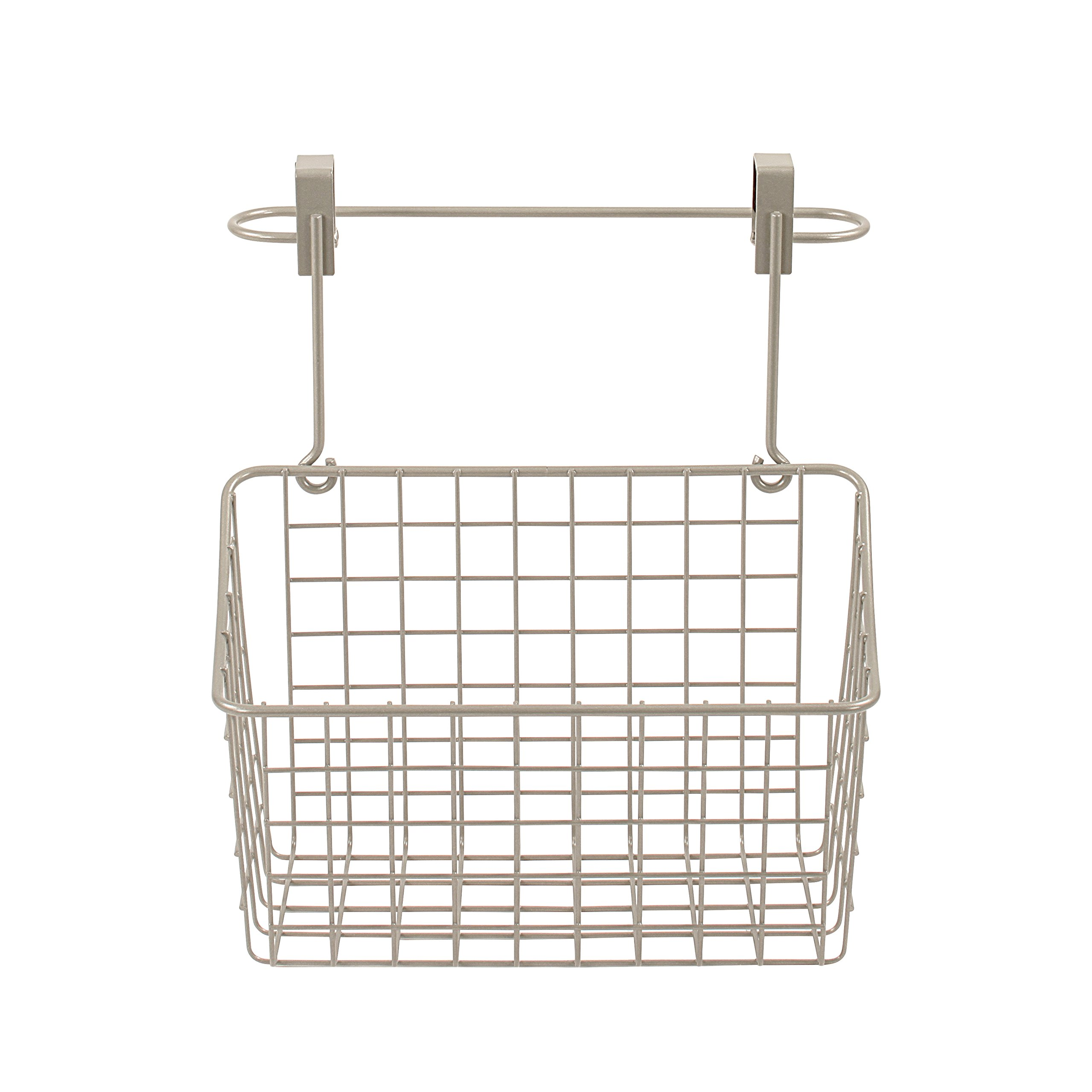 Spectrum Diversified Grid Over The Cabinet Towel Bar and Medium Basket, Nickel