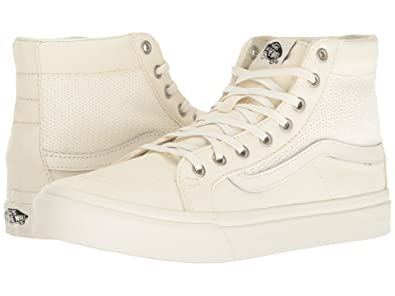 Vans Womens Basket Weave SK8 Hi Slim Cutout Marshmallow