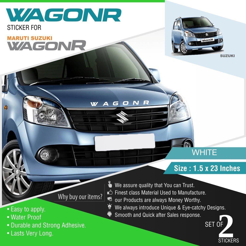 Cvanu front and rear stylish car sticker for maruti suzuki wagonr c20 white pack of 2 amazon in car motorbike