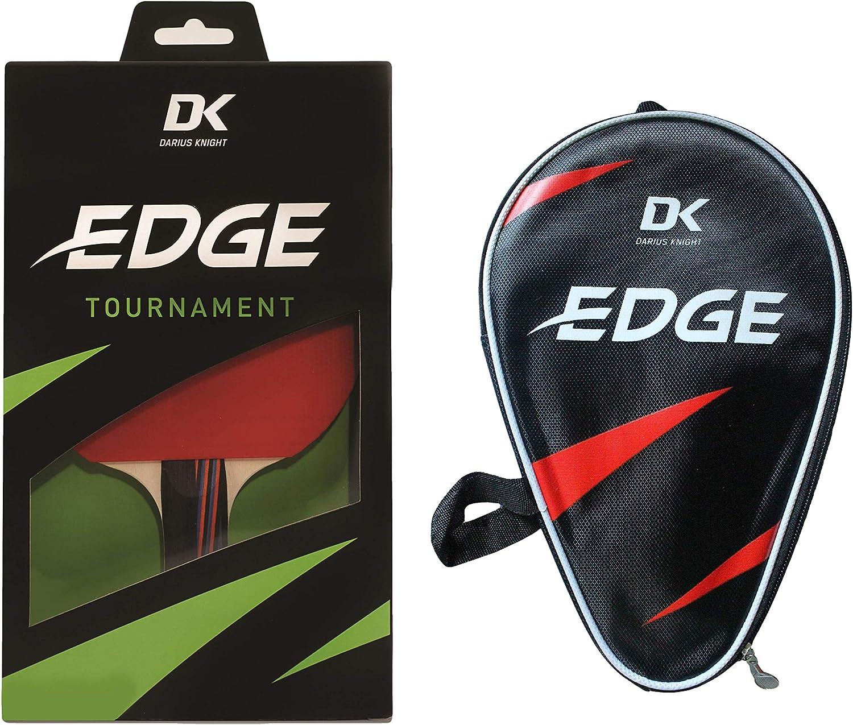 Darius Knight DK EDGE Tournament - Raqueta de tenis de mesa y borde de doble punto, para bate individual