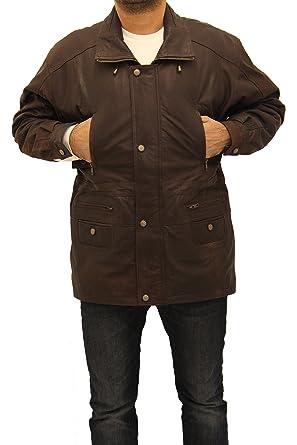 A to Z Leather Chaqueta de Invierno de Tres Cuartos de Longitud 100% de Cuero para Hombre: Amazon.es: Ropa y accesorios