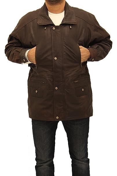 A to Z Leather Chaqueta de Invierno de Tres Cuartos de Longitud 100 ...