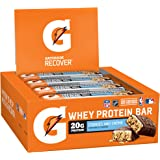 Gatorade Whey Protein Recover Bars, Cookies and Cream, 2.8 ounce bars (12 Count)
