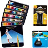 Prismacolor Quality Art Set - Premier Colored Pencils 132 Pack, Scholar Pencil Sharpener 1 Pack and Latex-Free Scholar Eraser 1 Pack