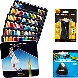 Prismacolor Quality Art Set - Premier Colored Pencils 132 Pack, Premier Pencil Sharpener 1 Pack and Latex-Free Scholar Eraser 1 Pack