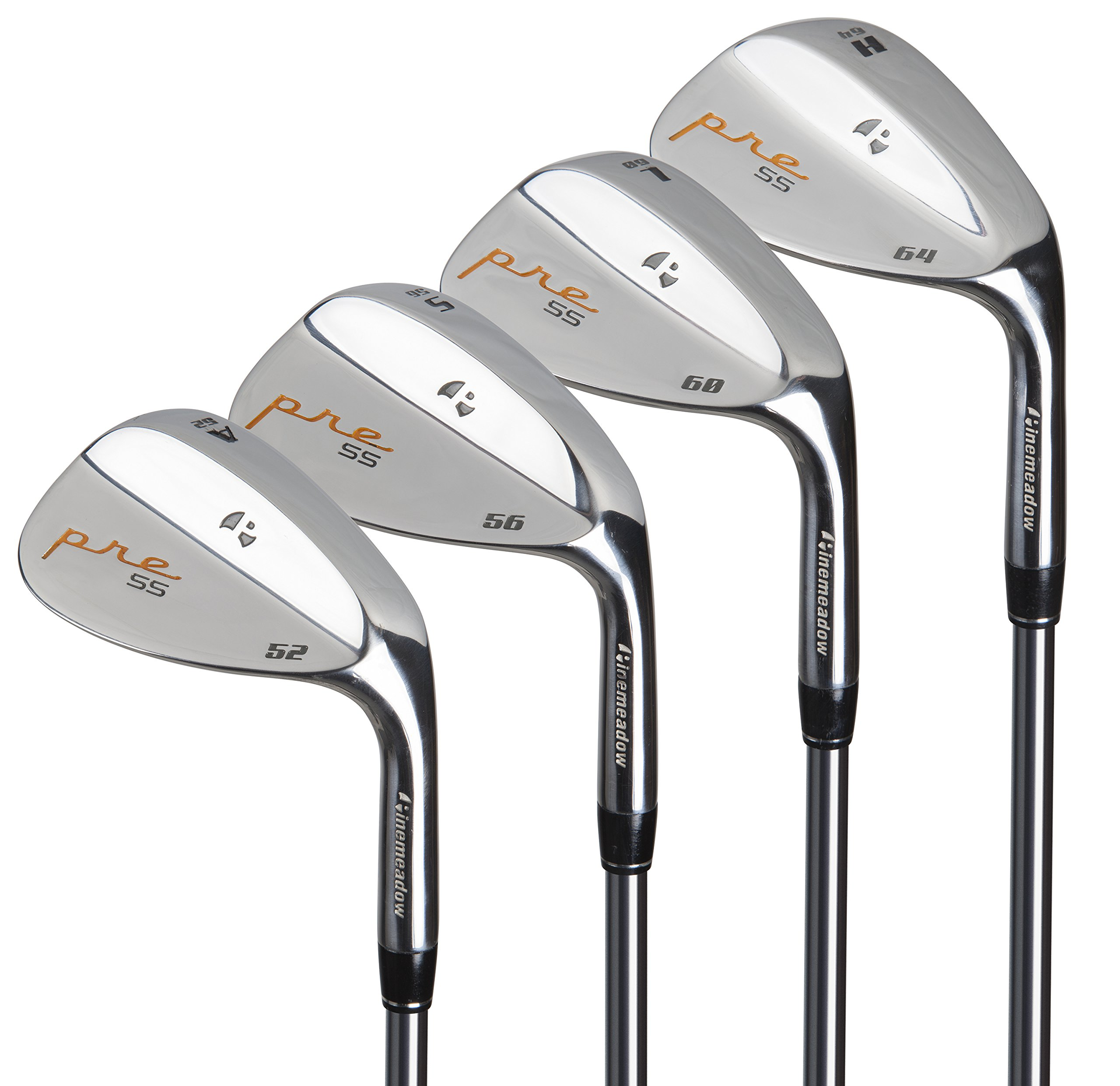 Pinemeadow Golf Men's Pre 4 Wedge Set, Right Hand, Steel, Regular, 52, 56, 60, 64 by Pinemeadow Golf (Image #2)