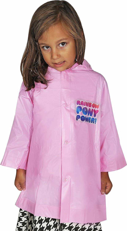 Hasbro Little Girls' Rainbow Waterproof Outwear Hooded Rain Slicker - Toddler