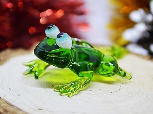 Glass figurine Glass animals Gift for her Glass art GLASS FROG