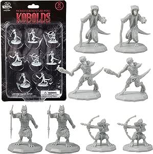 Miniaturas de DND Kobold Mini Figuras-1 pulgada de tamaño hexagonal para mazmorras y dragones, Pathfinder y todos los juegos de mesa RPG (8 unidades): Amazon.es: Juguetes y juegos