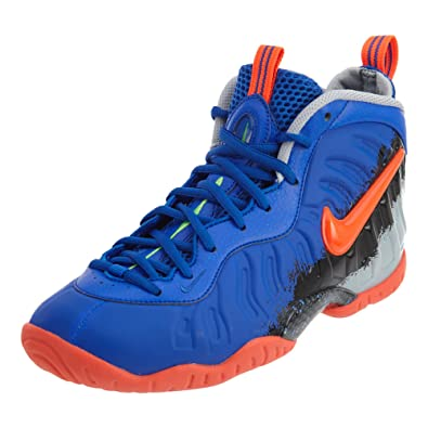 Nike Little Posite Pro GS Big Kids Shoes Racer Blue/Total Crimson 644792-403