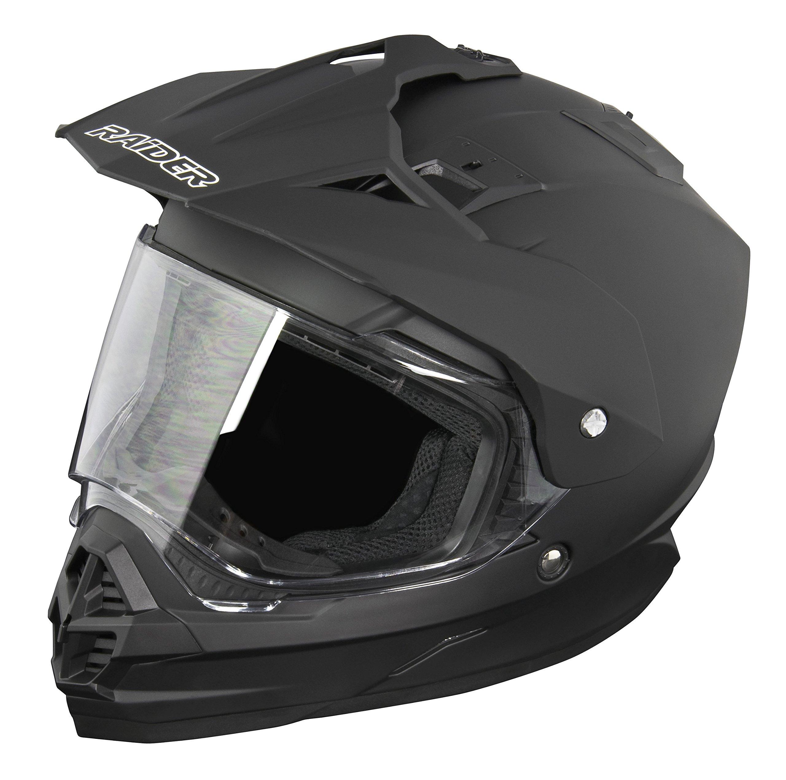 Raider Dual Sport Edge Helmet (Matte Black, XX-Large)