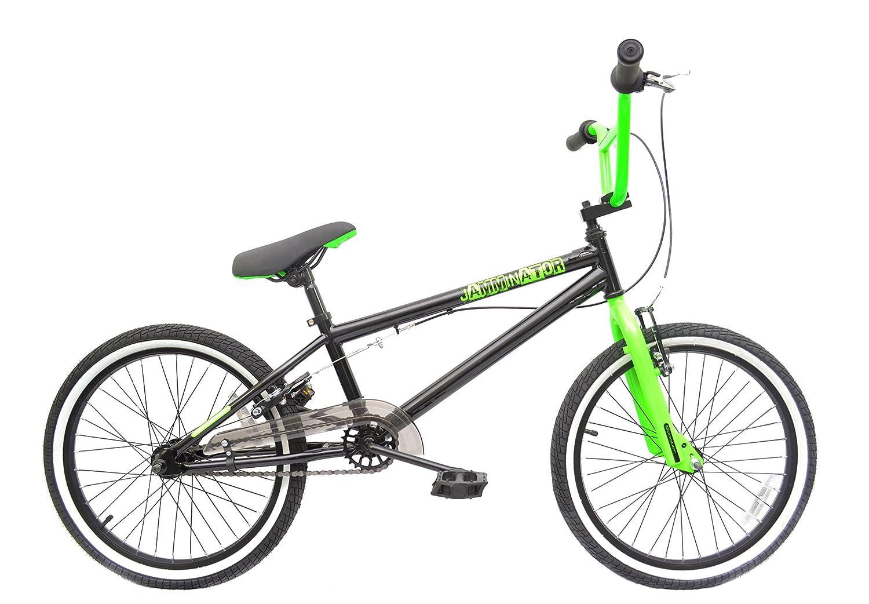 Rooster Jamminator 20 BMX Bike Black/Green with 36 Spoke Wheels