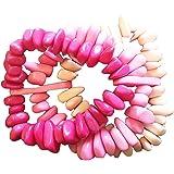 Piedras De Rio Triple Strand Pink Stretch Bracelet by Organic Tagua Jewelry 1.75