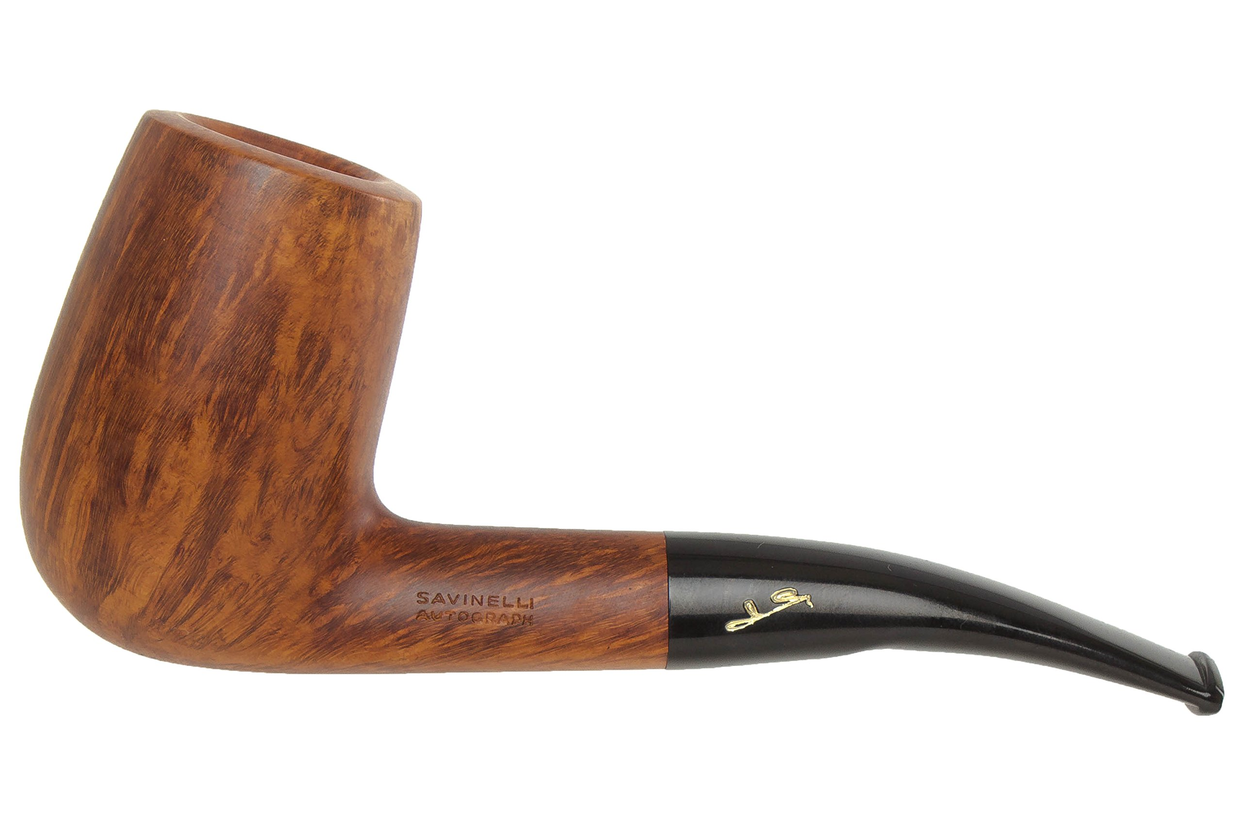 Savinelli Autograph Smooth 5 Tobacco Pipe - TP4122 by Savinelli (Image #1)