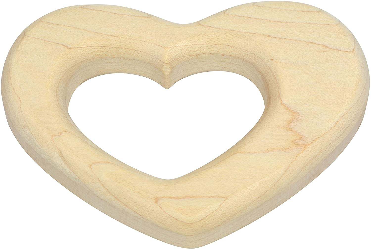 Made in USA Heart Shaped Maple Teether
