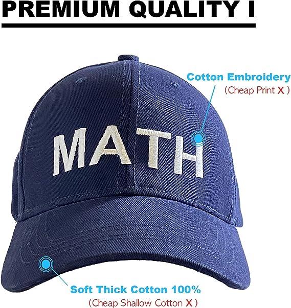 COCOPLAZA Math Hat Andrew Yang 2020 Adjustable Unisex Baseball Snapback Cap Dad Hat Make America Think Harder
