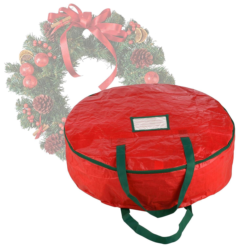 Elf Stor Premium rot Urlaub Weihnachten Kranz Aufbewahrungstasche f/ür 60/cm Zoll Kr/änzen