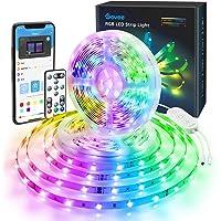 Govee RGB LED Strip Bluetooth mobilstyrning, 10 m LED remsor ljusband, APP-styrning, fjärrkontroll, kontrolllåda LED…