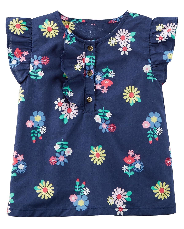 Carters Girls 2T-8 Floral Flutter Top