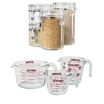 bundle includes 2 items oggi 4 piece acrylic canister set with rh amazon co uk