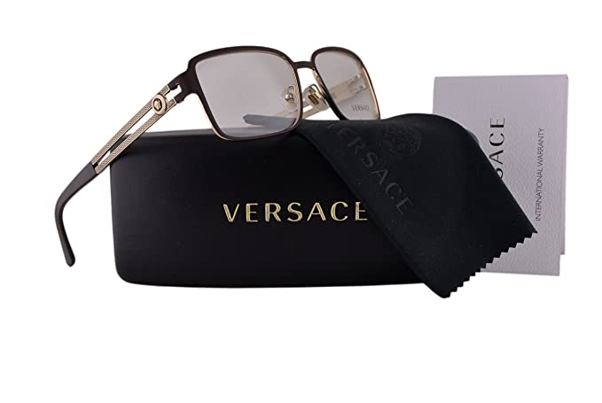 f656a14228 Versace VE1236 Eyeglasses 55-16-140 Matte Brown Pale Gold 1378 VE 1236   Amazon.ca  Clothing   Accessories