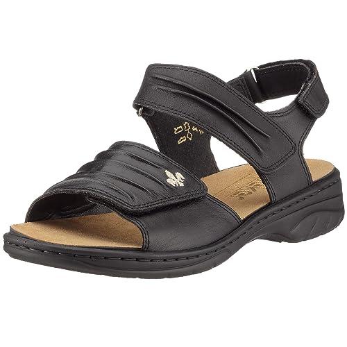 mäßiger Preis Farben und auffällig 100% Qualität Rieker Annett 64560-01, Damen Sandalen/Fashion-Sandalen
