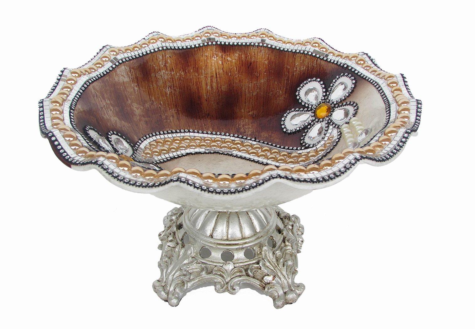 D'Lusso Designs 14 Inch Brown Flower Centerpiece
