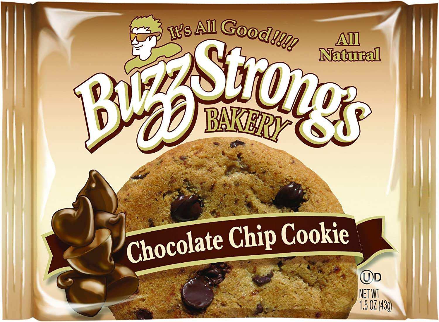 Amazon.com: Buzz Strong's 1.5 Oz Whole Grain Chocolate Chip Cookie ...