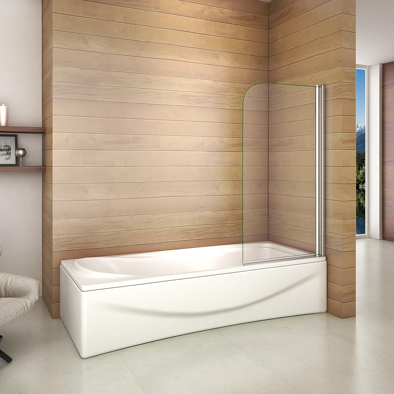 Pare-baignoire 70x130cm en verre anticalcaire pivotant à 180