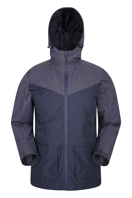 Bleu Marine XS Mountain Warehouse Veste imperméable Altitude pour Homme - Coutures étanches, AjusteHommest réglable et avec Poches Avant - pour l'été, la randonnée et Les Voyages