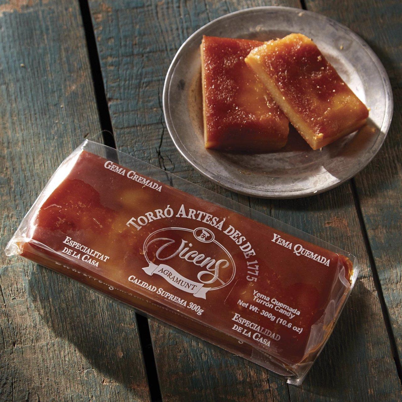 Amazon.com : Yema Quemada (Crème Brûlée) Turrón by Vicens : Grocery & Gourmet Food