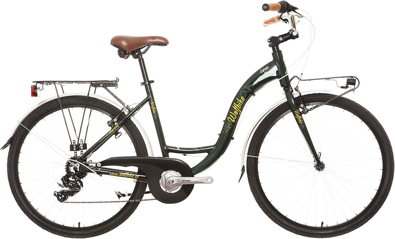 Wolfbike Serena TX-300 7V Verde Oliva T18 Bicicleta de Paseo Mujer ...