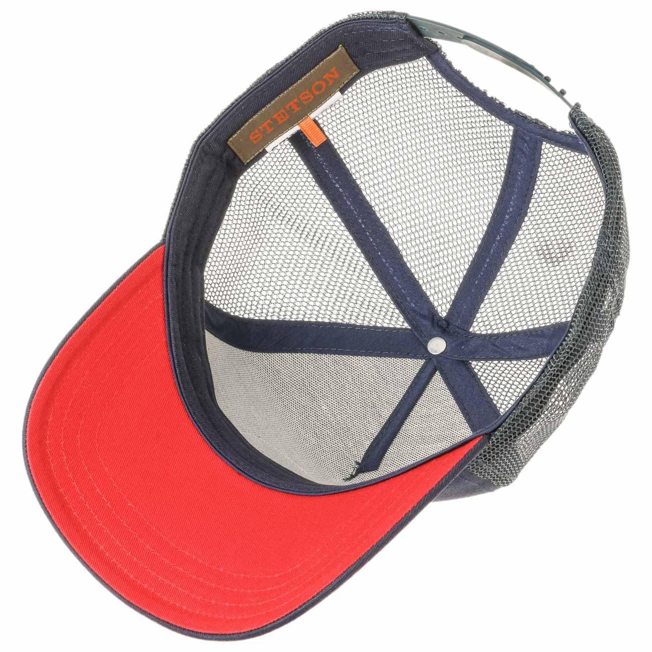 Stetson JBS-Cavalry Trucker Baseball Mesh Cap (One Size - Beige-Blue)   Amazon.co.uk  Clothing 189e47cc2ea