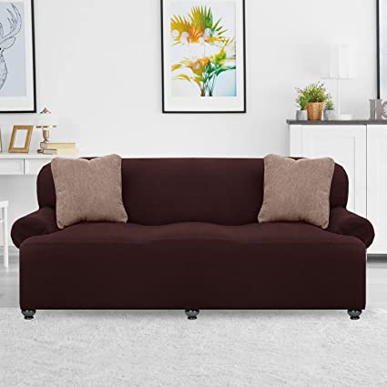 Renaissance Strech Sofa Cover, Luxurious Soft Fabric, Best Protector, Long  Lasting Slipcover Home Decor (Sofa, Brown)