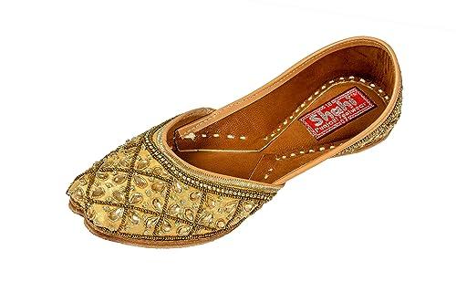 db4ca3d2b SHAHI PUNJABI FOOTWEAR Women s Golden Jutti
