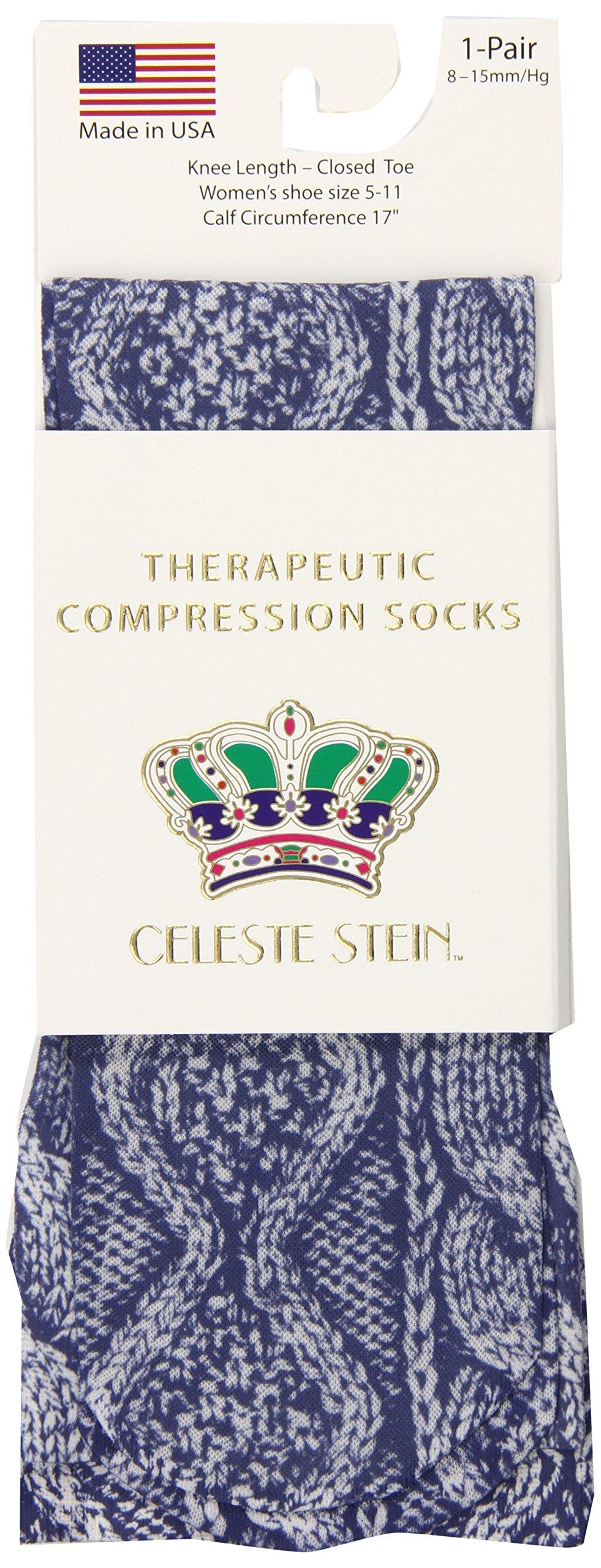 Celeste Stein Therapeutic Compression Socks, Denim