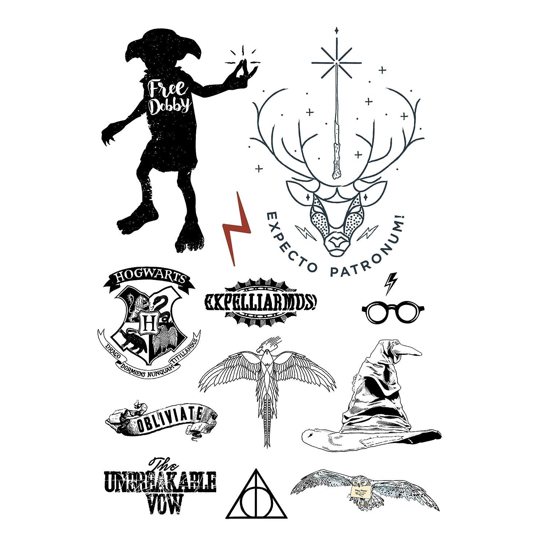 Harry Potter Tatuajes Temporales Set De 35 Estilos Cinereplicas