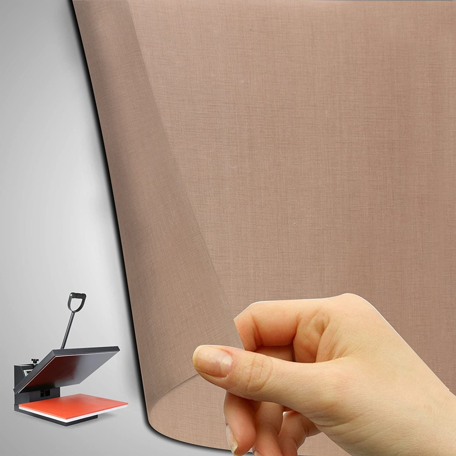 Reusable 39 x 5 Yard Teflon Fabric Sheet Roll 5Mil Thickness for Sublimation Printing Heat Resistant Craft Mat
