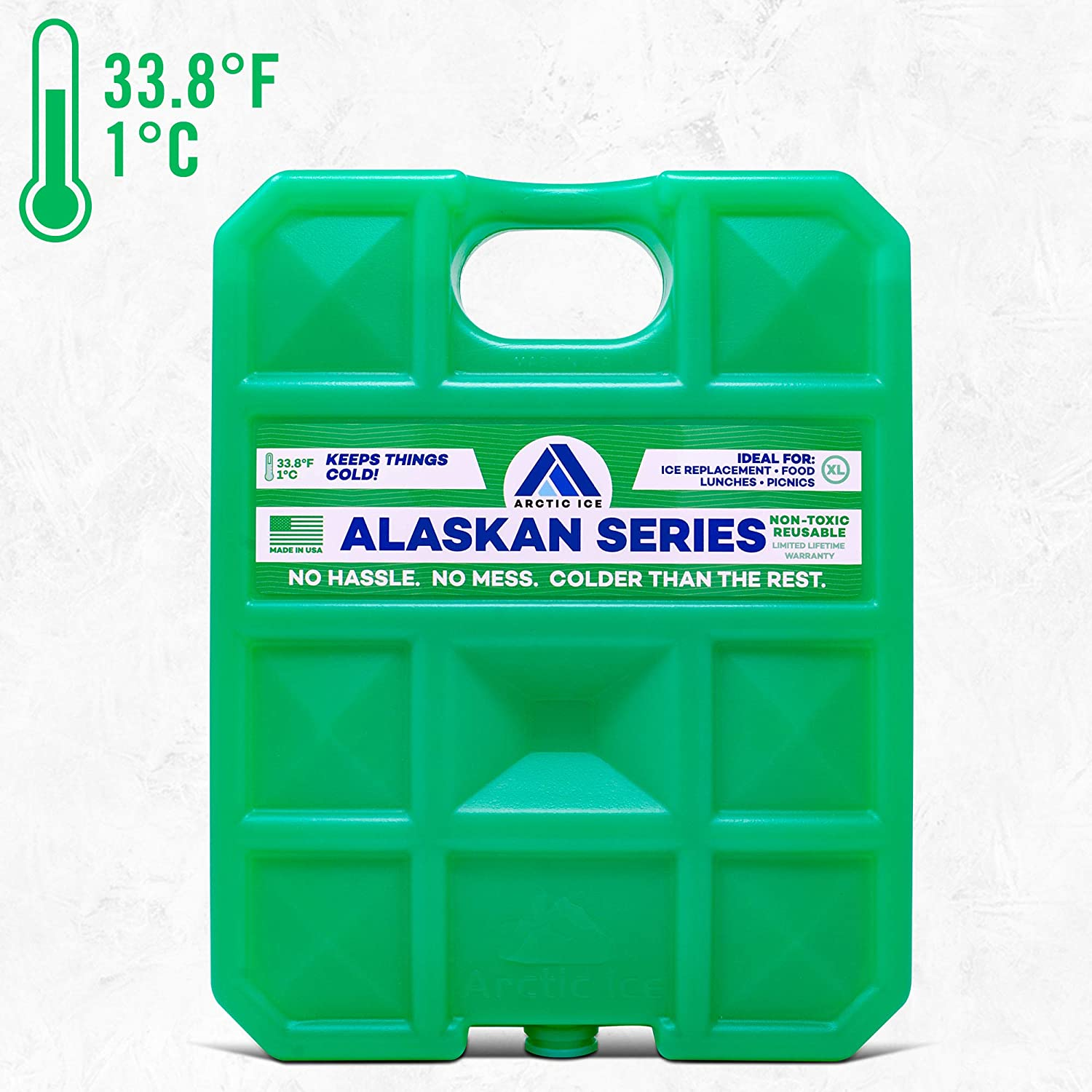 Long Lasting Ice Pack for Coolers, Camping, Fishing and More, X-Large Reusable Ice Pack, Alaskan Series by Arctic Ice