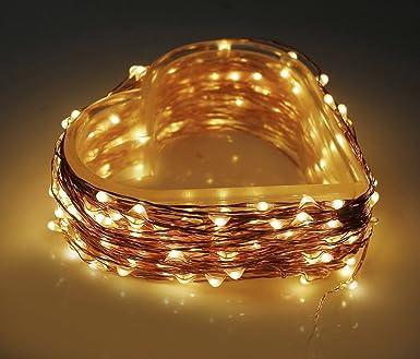 MAVIE 20m LED Kupfer Drahtleuchten, 200 LED wasserdicht String Licht ...