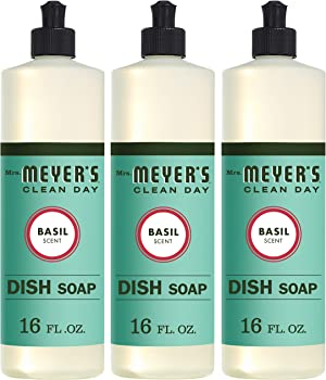 3-Pack Mrs. Meyer's Clean Day 16oz Liquid Dish Soap (Basil)