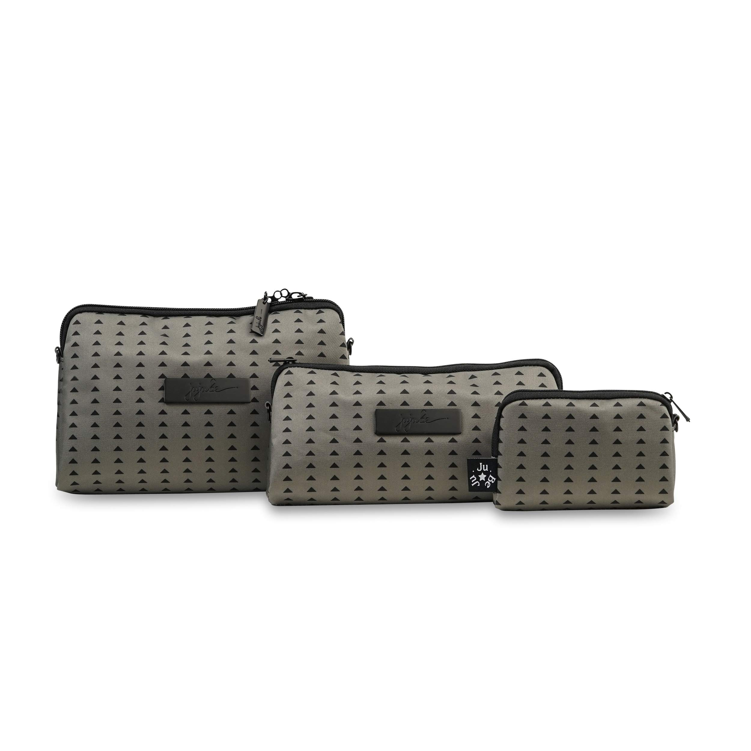 JuJuBe Be Set Travel Accessory Bags, Onyx Collection - Black Olive