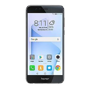 Huawei Honor 8 Unlocked Smartphone 32 GB Dual Camera - US Warranty (Midnight Black)
